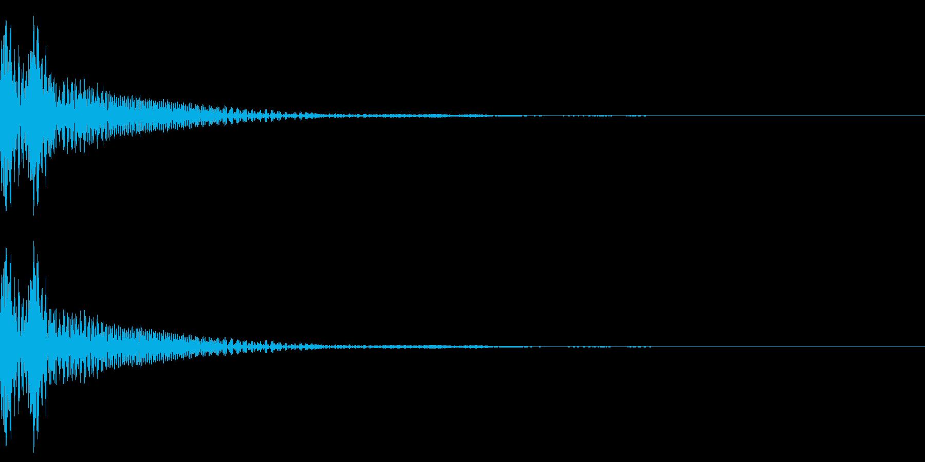 和風「ドドン」大太鼓+当り鉦+大鼓 速めの再生済みの波形