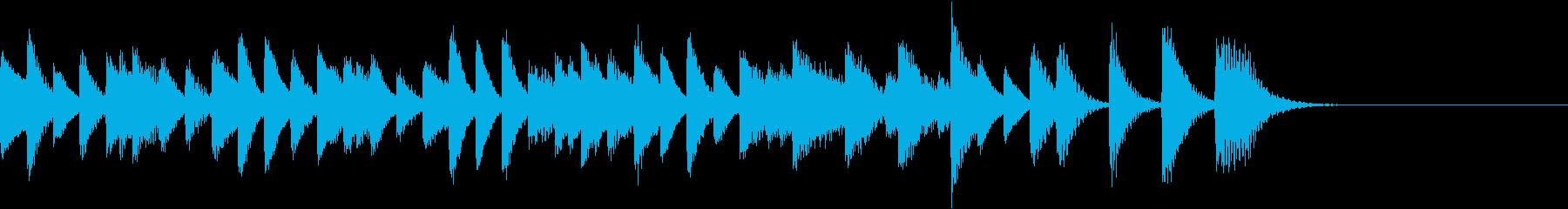 スピード感満載の超軽やかなピアノジングルの再生済みの波形