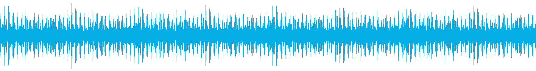 元気な雰囲気がメインの軽快な曲の再生済みの波形