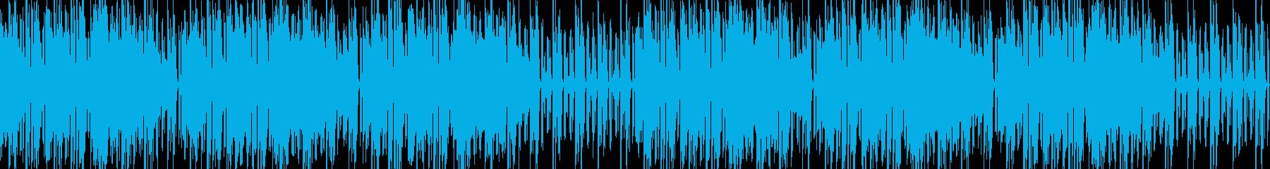 和風リズミカル電子音の再生済みの波形