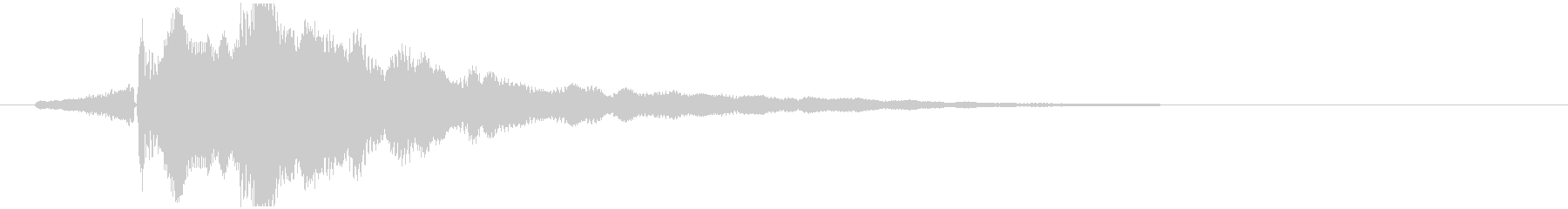 タンターン_生楽器の暗めの音程の未再生の波形