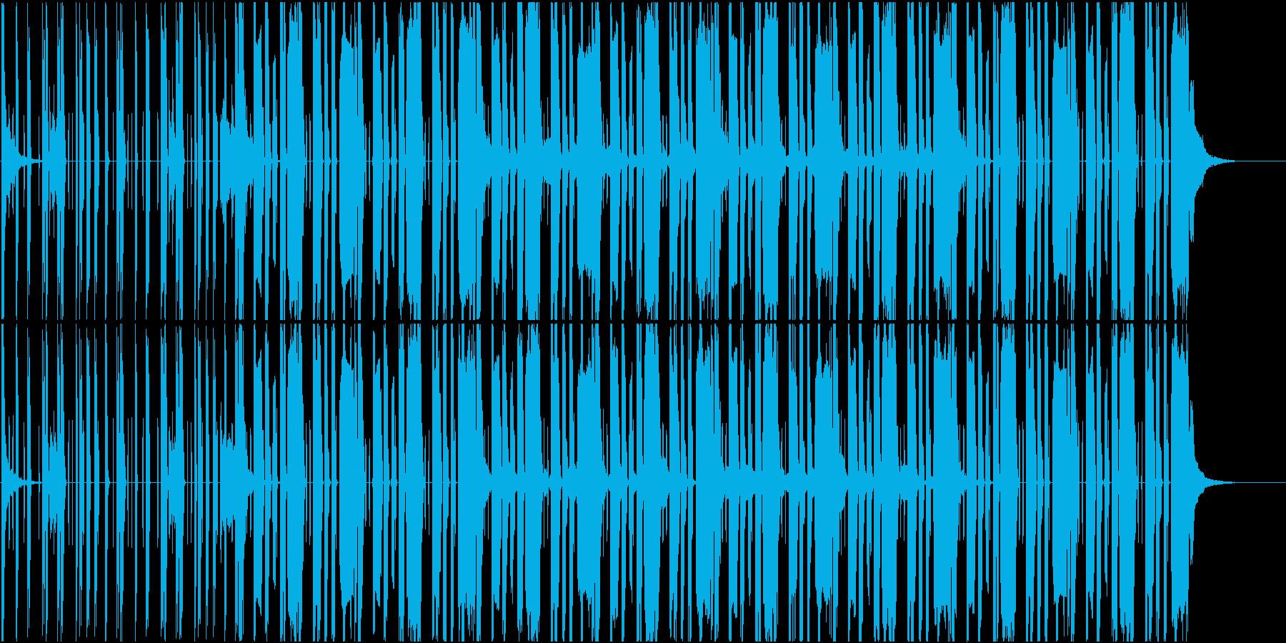 Lofiな雰囲気のhiphop系楽曲の再生済みの波形