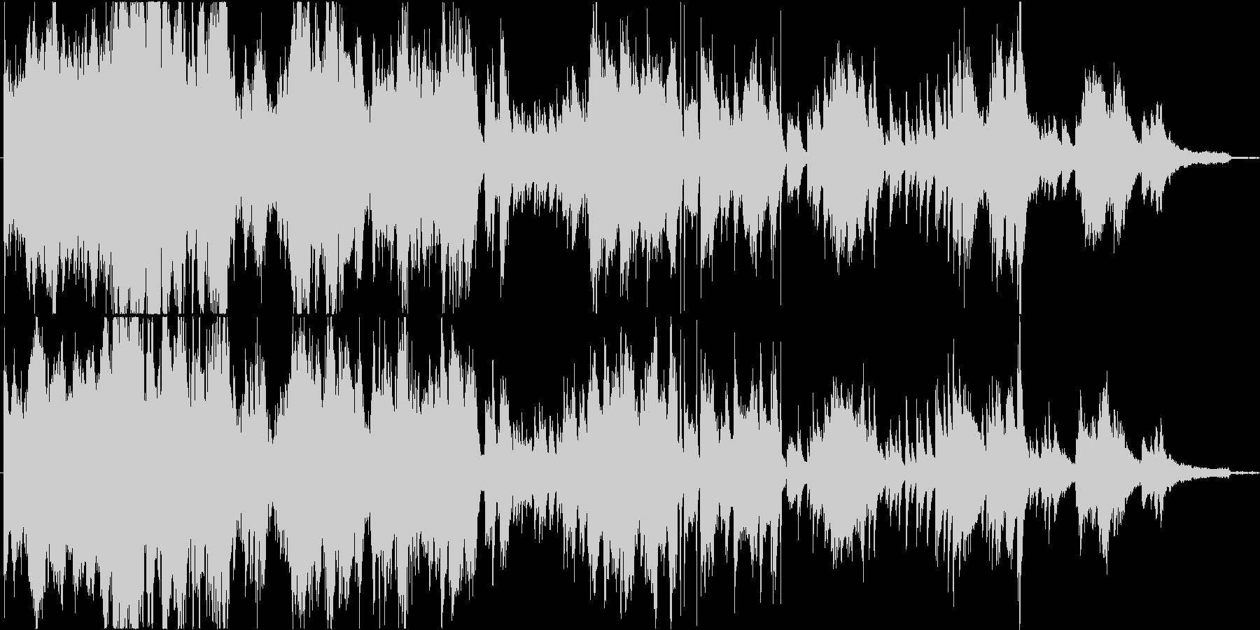 混沌の中に僅かな秩序のあるピアノ現代音楽の未再生の波形