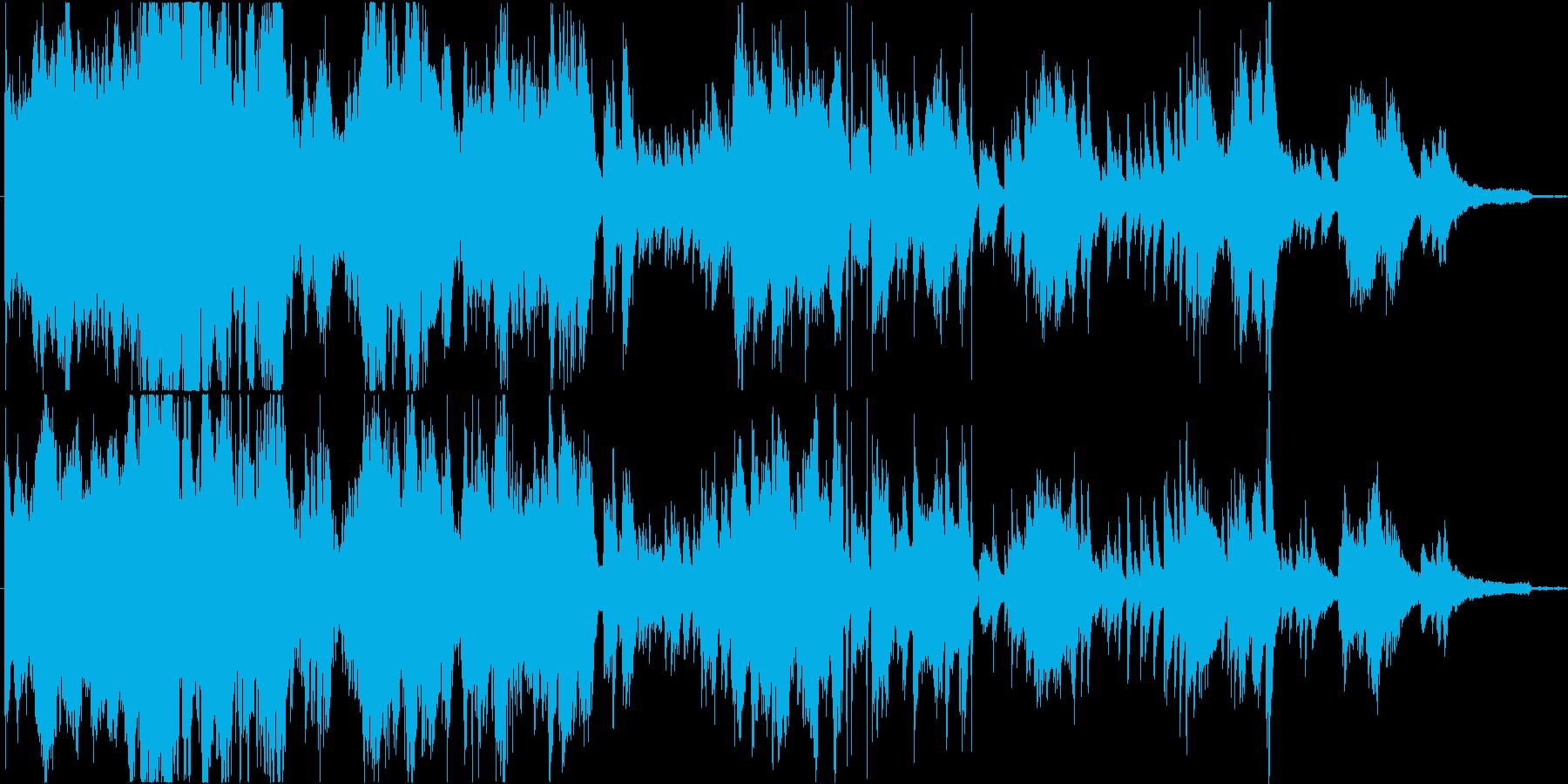 混沌の中に僅かな秩序のあるピアノ現代音楽の再生済みの波形
