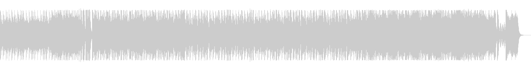 鼓動のようなシンセのリズムが特徴の楽曲の未再生の波形