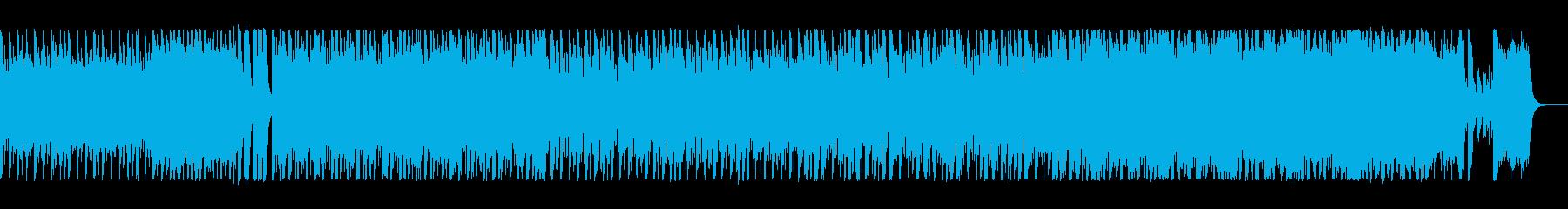 鼓動のようなシンセのリズムが特徴の楽曲の再生済みの波形