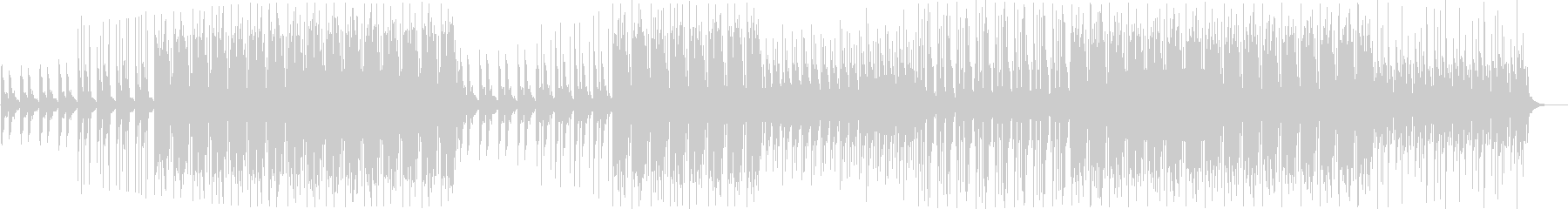 TikTok YouTube明るいBGMの未再生の波形