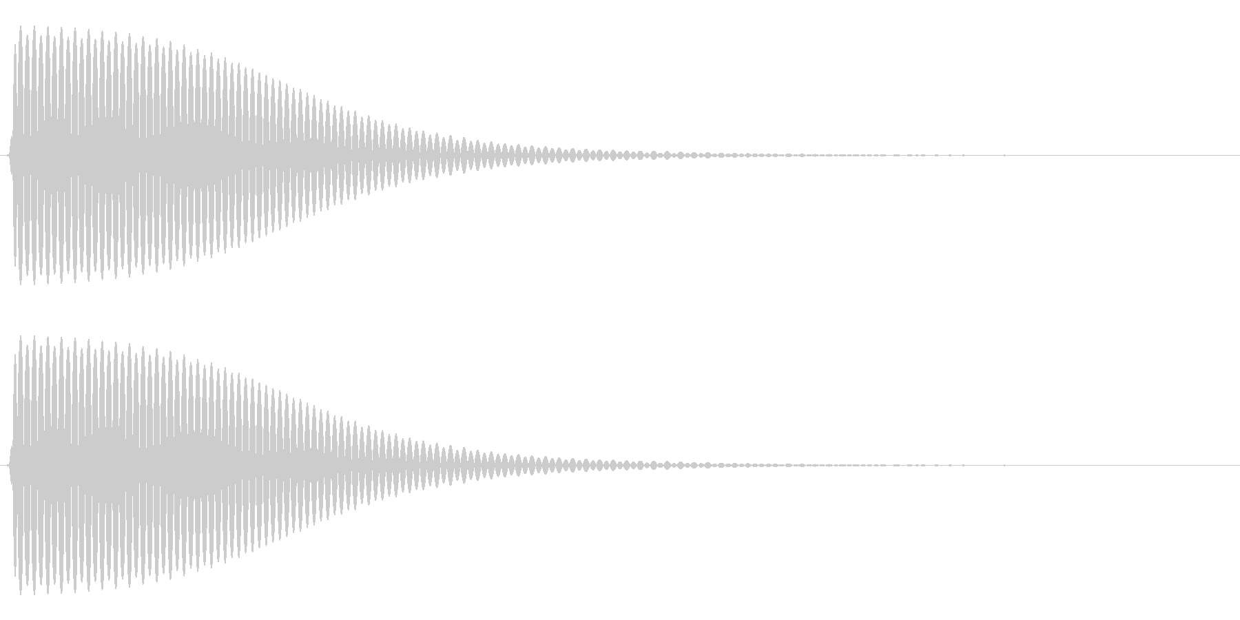 Com ファミコンなどのコマンド音 7の未再生の波形