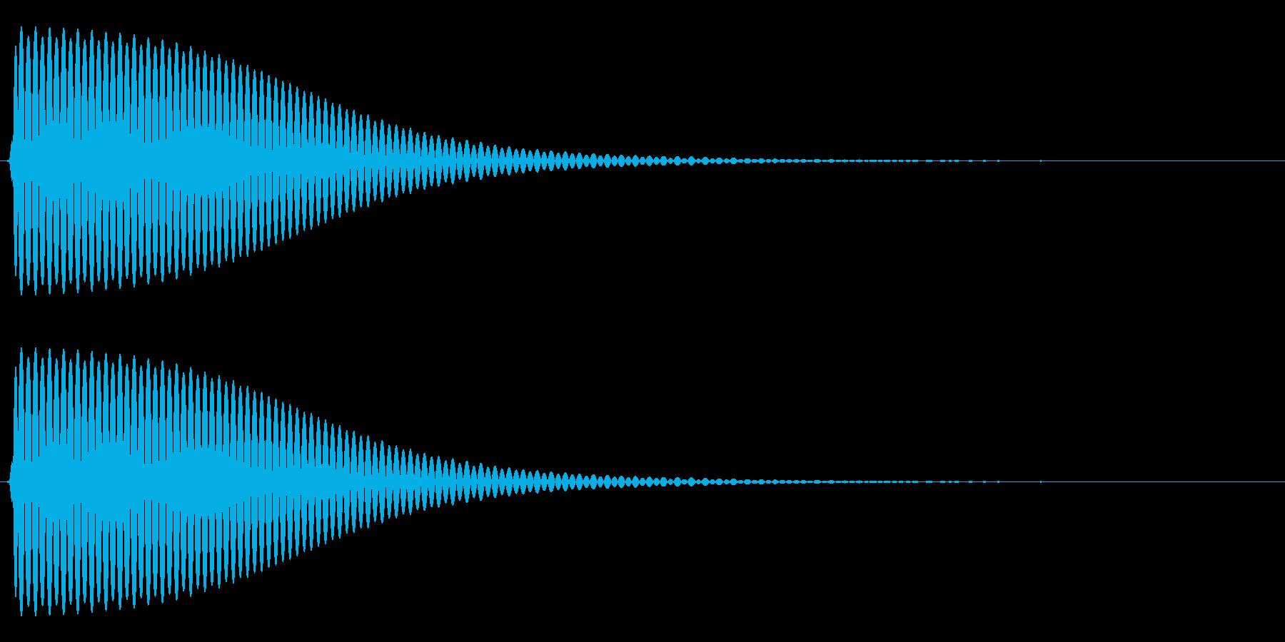 Com ファミコンなどのコマンド音 7の再生済みの波形