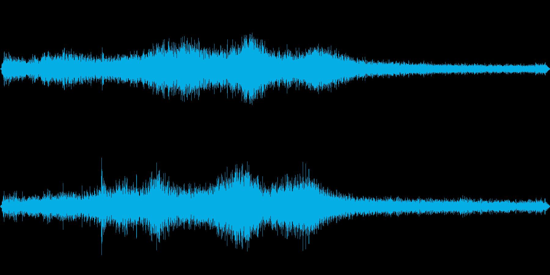 朝の道路の音の再生済みの波形