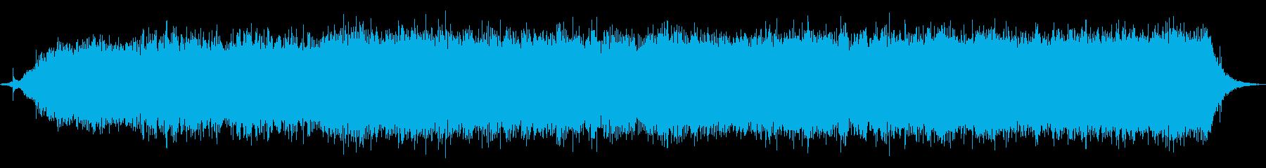 ヘアードライヤー:空気騒音の機械旋風。の再生済みの波形
