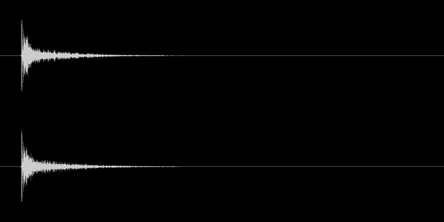 【カスタネット01-6】の未再生の波形