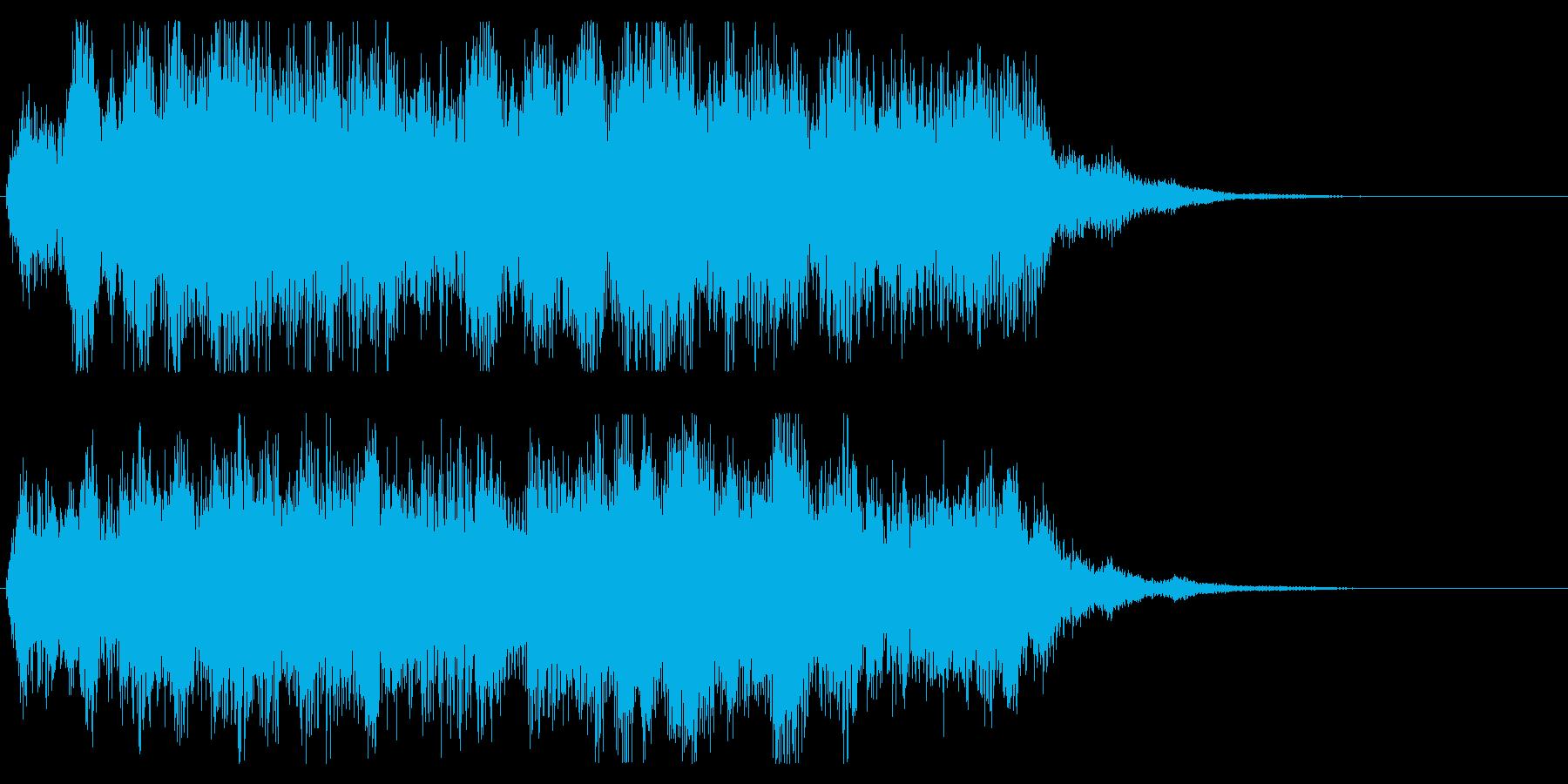 オーケストラ 勇壮なジングル パターンAの再生済みの波形