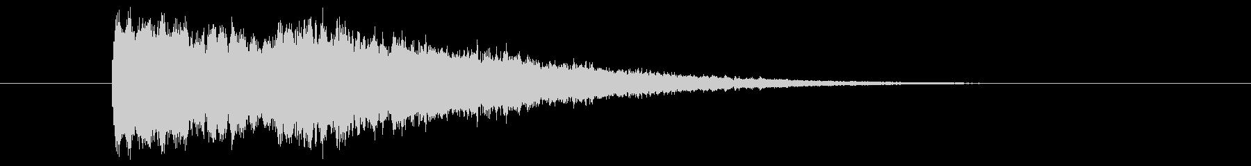 テロップSE キーン 使い易いシリーズ3の未再生の波形
