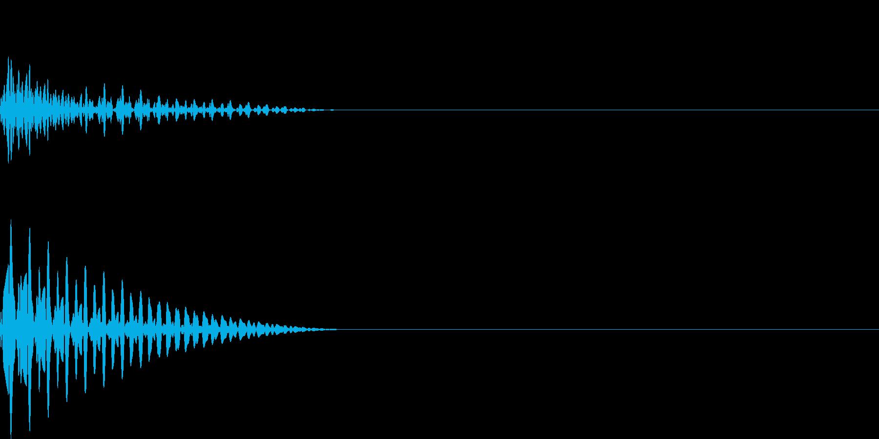 ドン(click_ボタンシンプル)の再生済みの波形