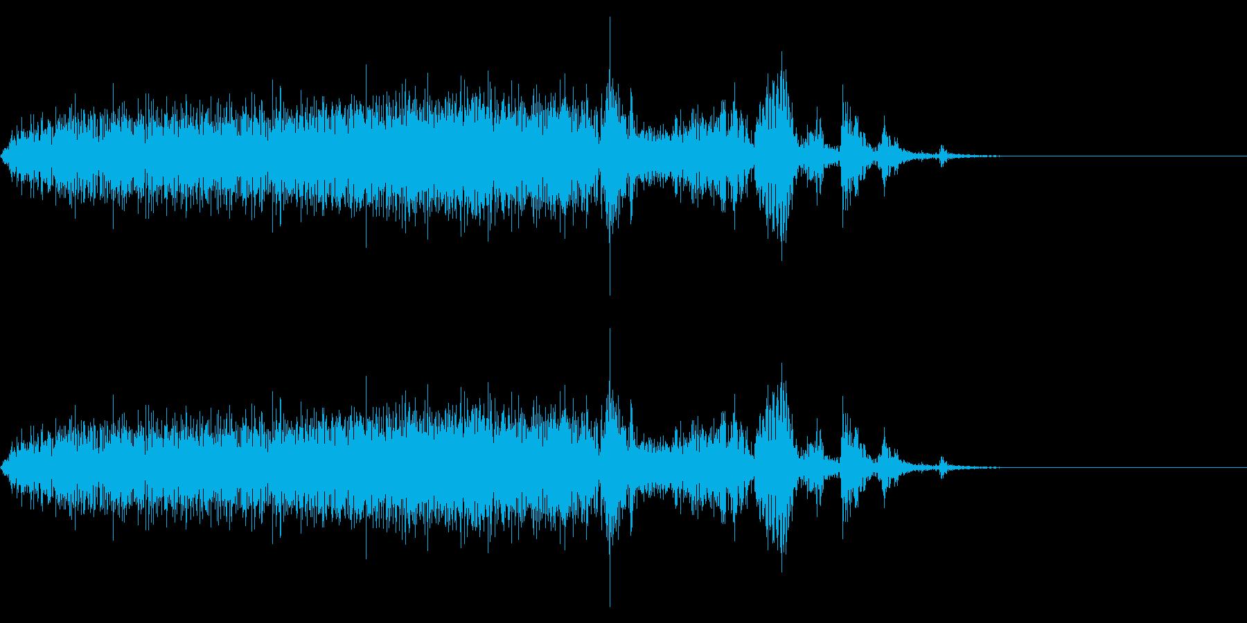 【生録音】本のページをめくる音 1の再生済みの波形