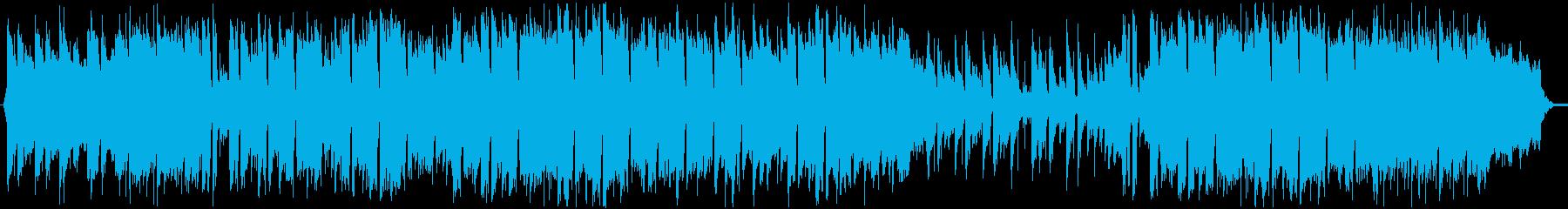 明るくて前向きな日常曲の再生済みの波形