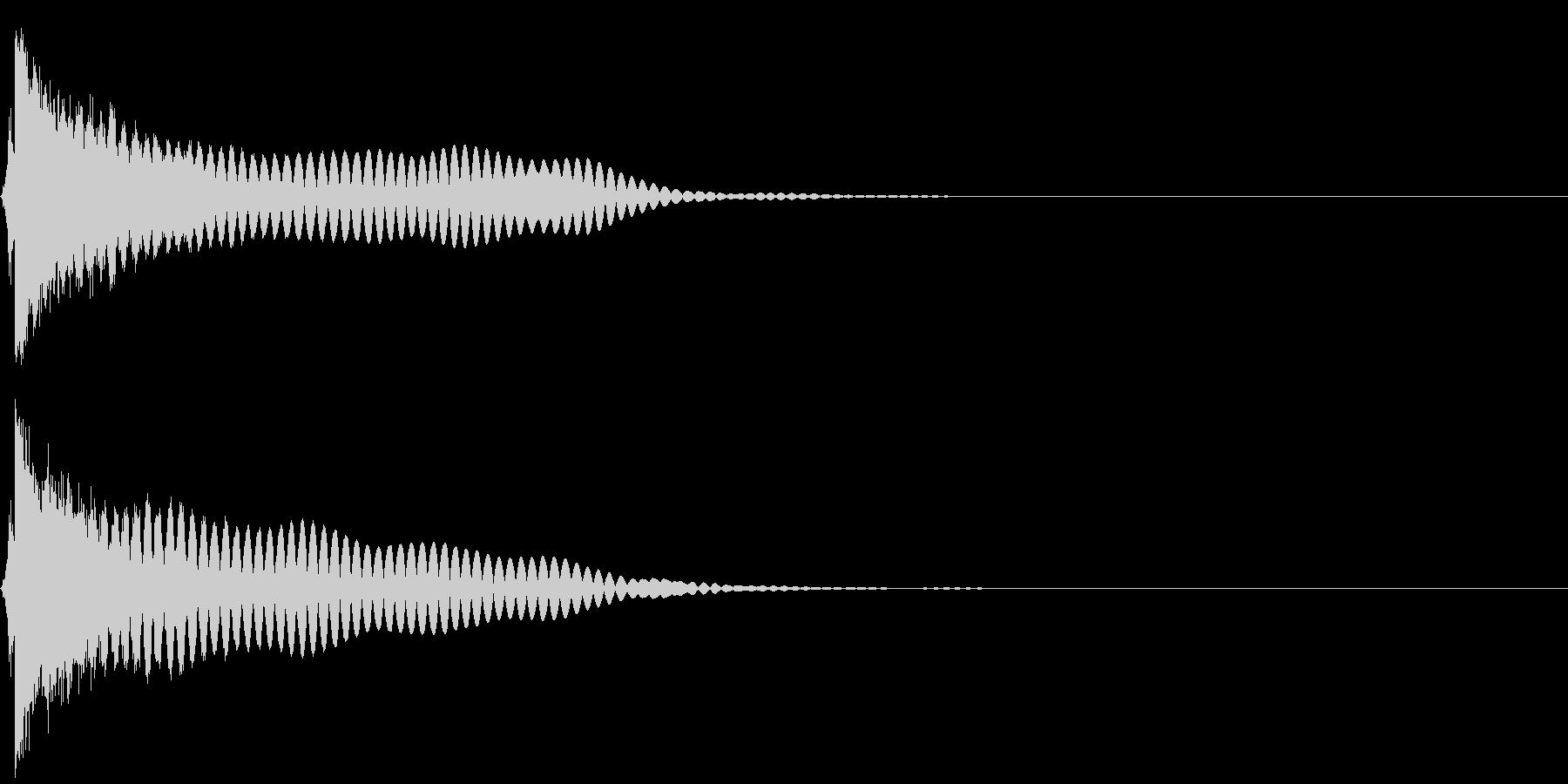 刀 キーン 剣 リアル インパクト Oの未再生の波形