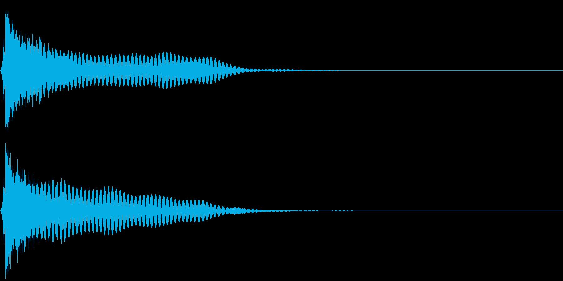 刀 キーン 剣 リアル インパクト Oの再生済みの波形