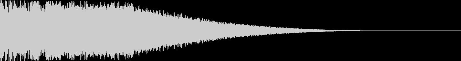 ピコーン:当たり・衝撃・ヒットの未再生の波形
