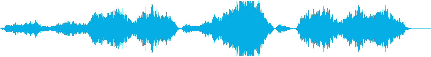 感動的なラストシーンのBGMの再生済みの波形