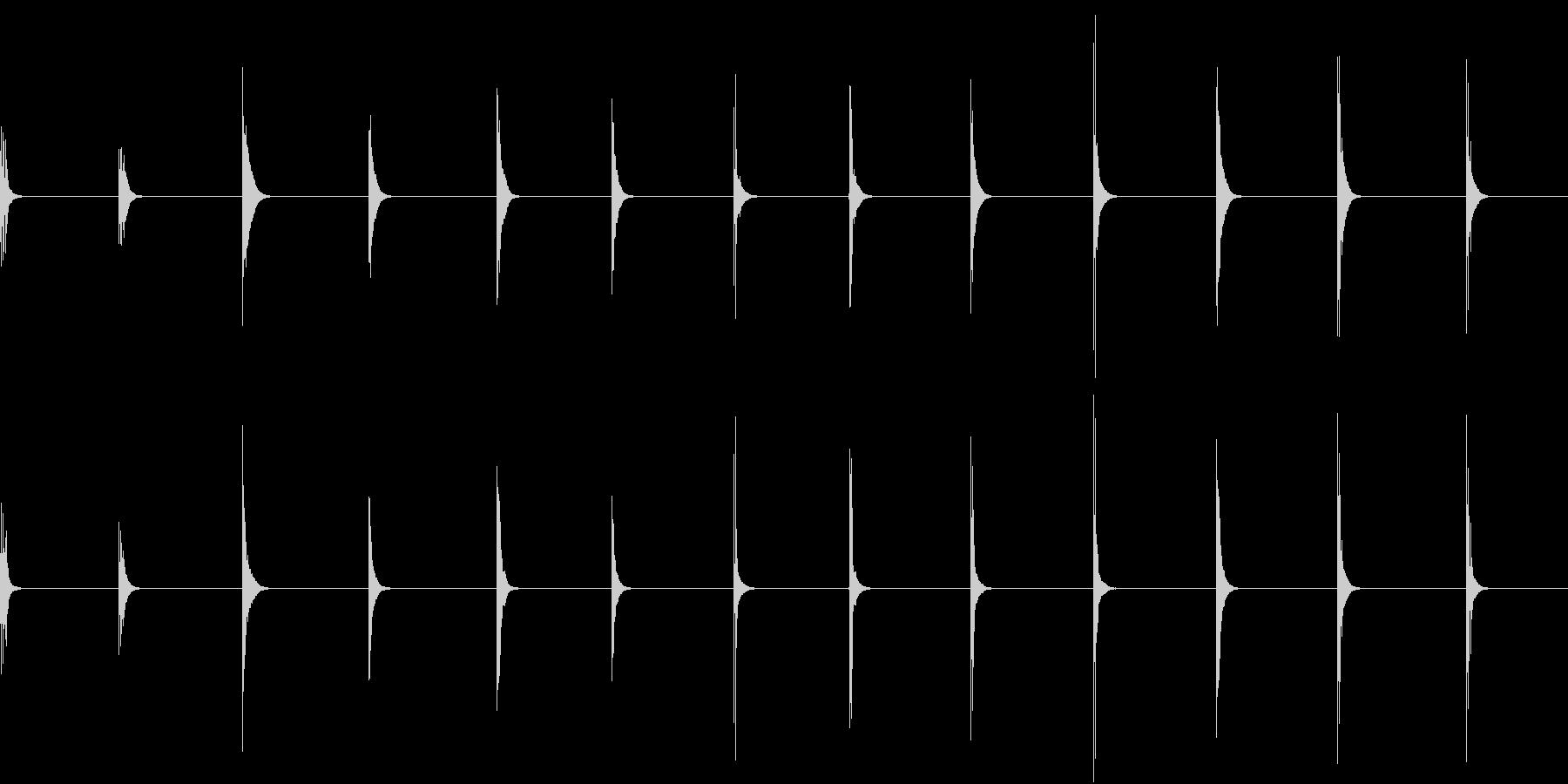 【生録音】お箸の音 52 かき込み食べるの未再生の波形
