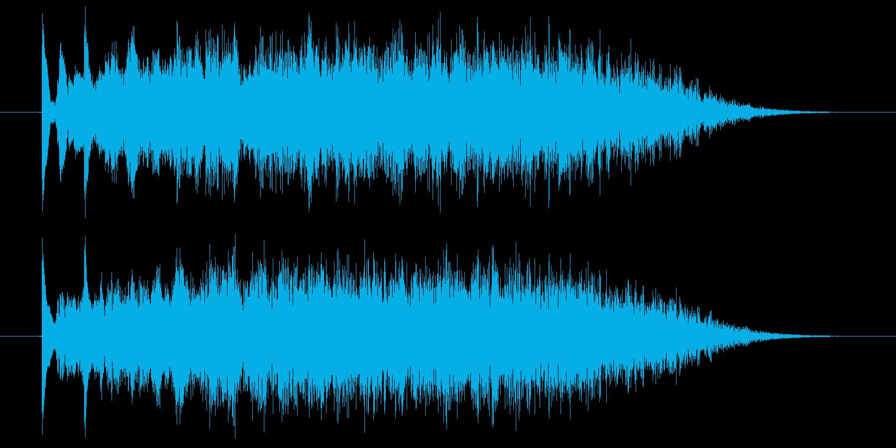 ジングル用BGM(夜の光&幻想的)の再生済みの波形