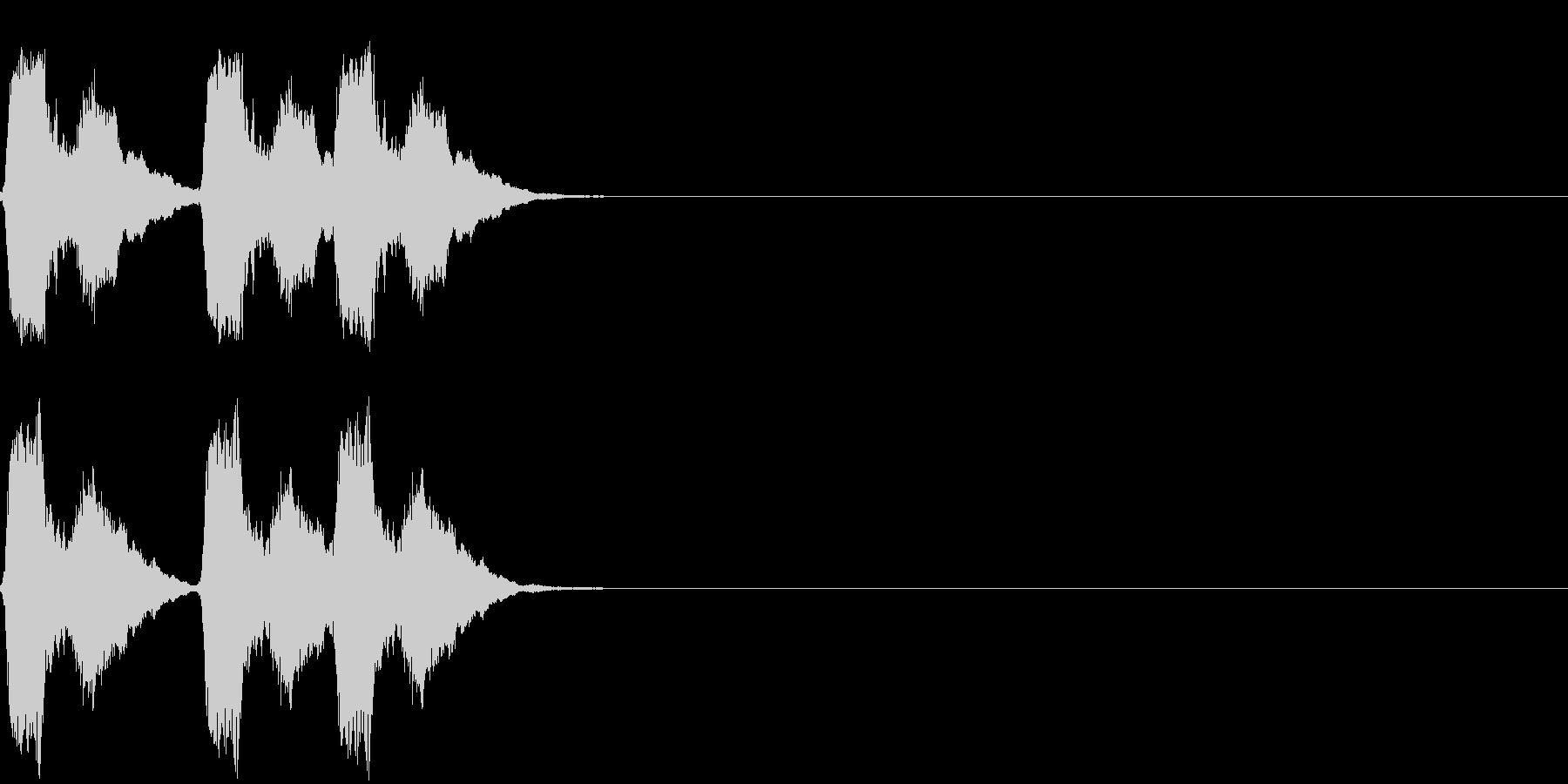 パフッ パフパフッの未再生の波形