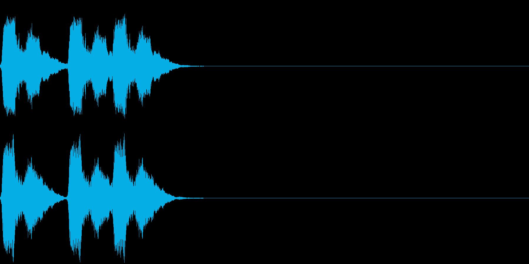 パフッ パフパフッの再生済みの波形