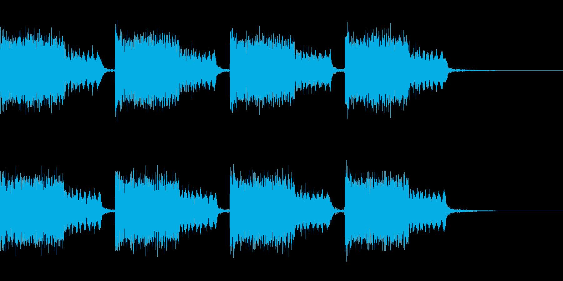 広い空間内でのタイムリミット系緊急警報音の再生済みの波形