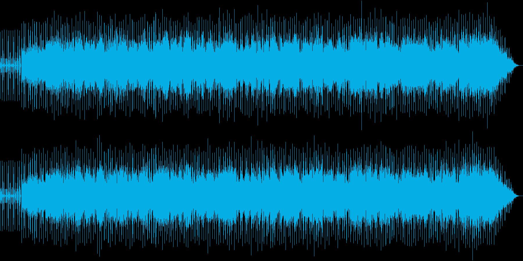 強く前進する雰囲気のフュージョンの再生済みの波形