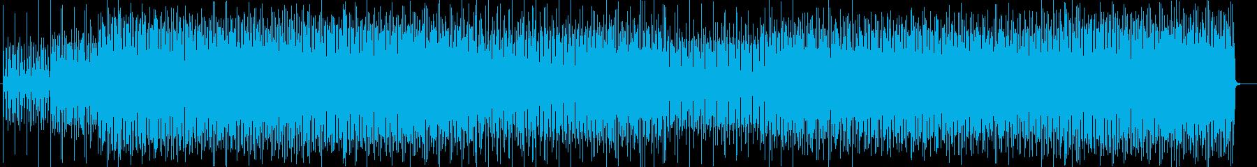 ファンキーなシンセサイザーサウンドの再生済みの波形