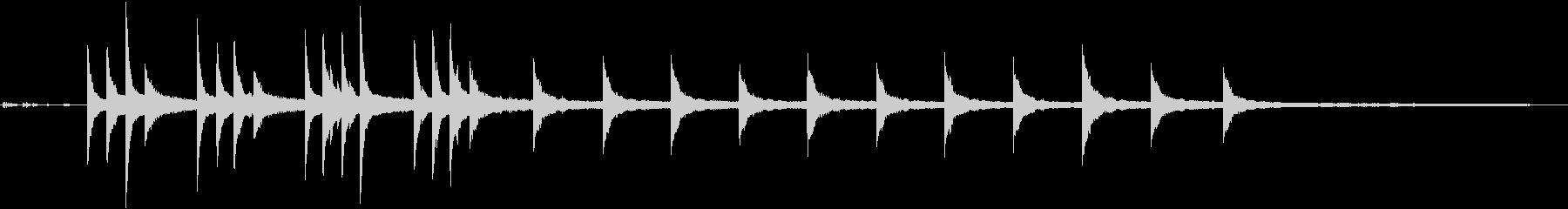 ウォルサム祖父時計:チャイムとスト...の未再生の波形