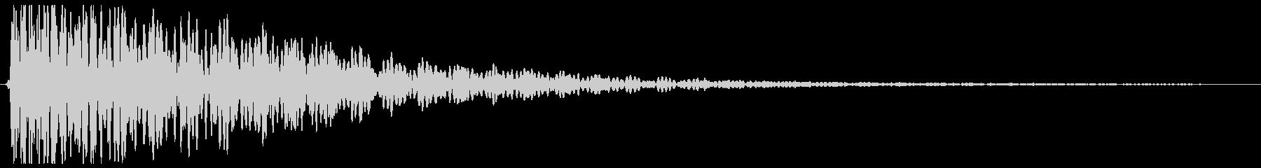 ゴーン(低く伸びる音)の未再生の波形