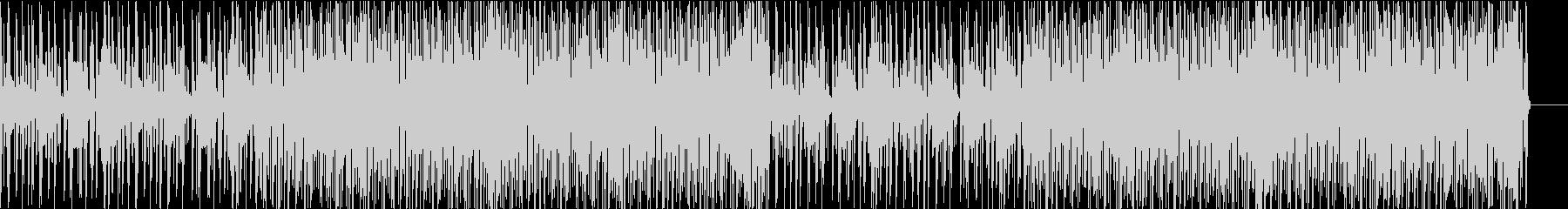 やらかな印象の電子音のテクノの未再生の波形