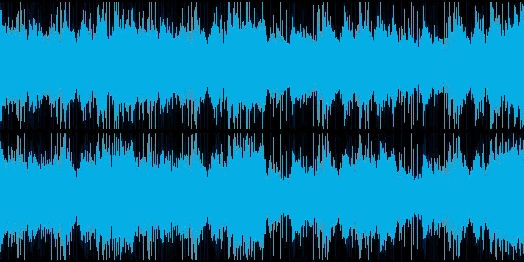 疾走感と緊迫感のあるピアノのフレーズの曲の再生済みの波形