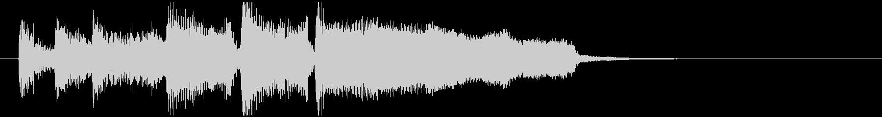 くじ引きやビンゴの結果発表っぽいジングルの未再生の波形