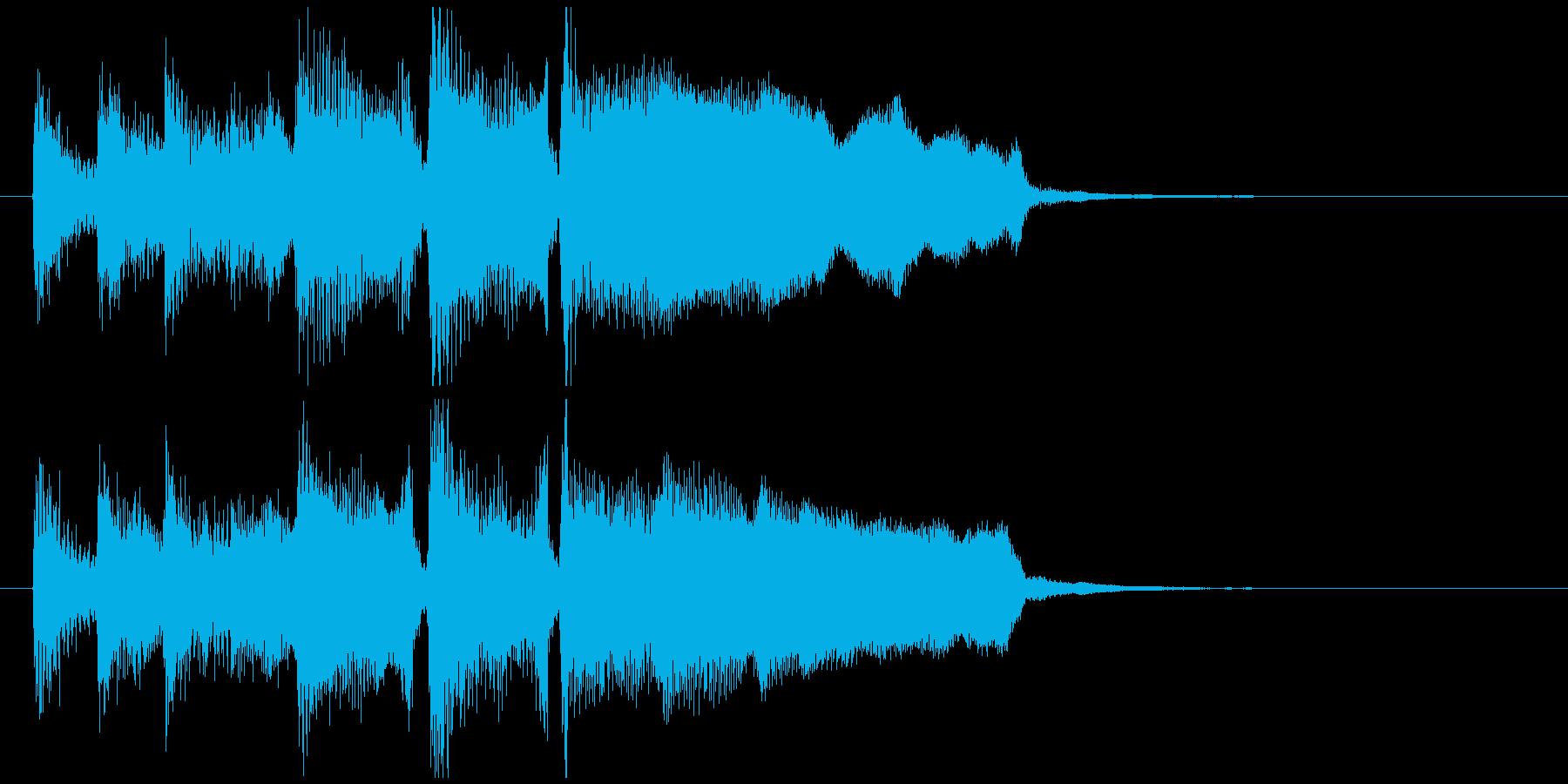 くじ引きやビンゴの結果発表っぽいジングルの再生済みの波形