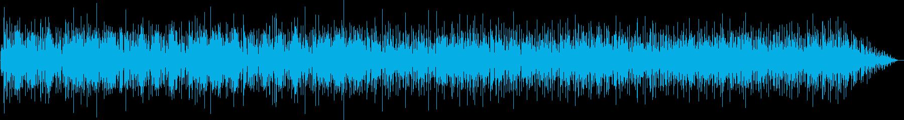 お洒落なピアノの再生済みの波形