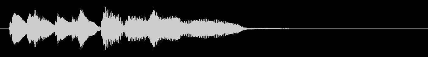 愉快な終わりの音ジングル鈴付きの未再生の波形