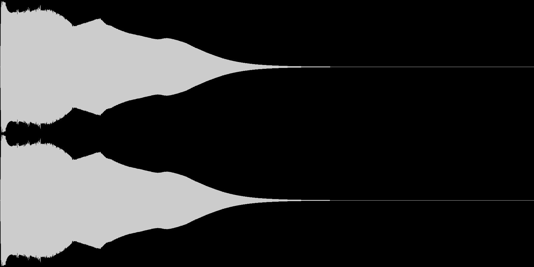 チューン(気が抜けたような電子音)の未再生の波形