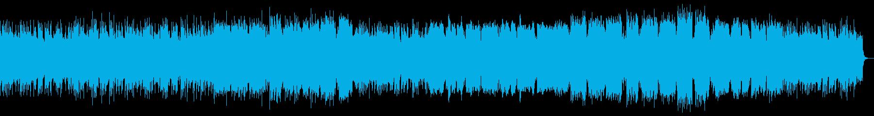 ピアノ、管楽器によるレトロ風ポップスの再生済みの波形