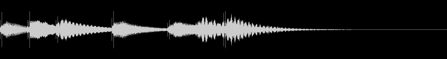 マリンバ タラランタンタララーン 7音の未再生の波形