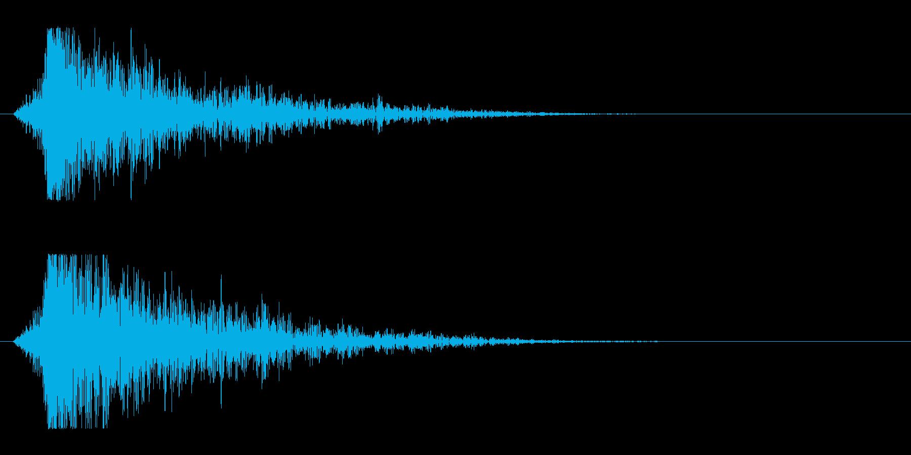 シュードーン-16(インパクト音)の再生済みの波形