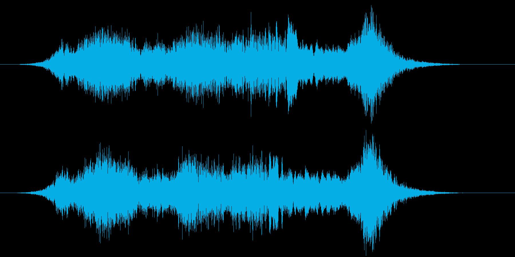 【ホラー・映画演出】キャラクター登場の再生済みの波形