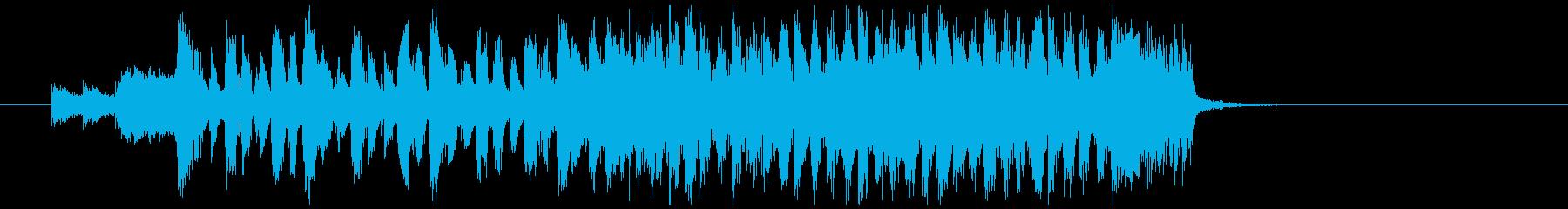 勢いある2ビートのロックギタージングルの再生済みの波形