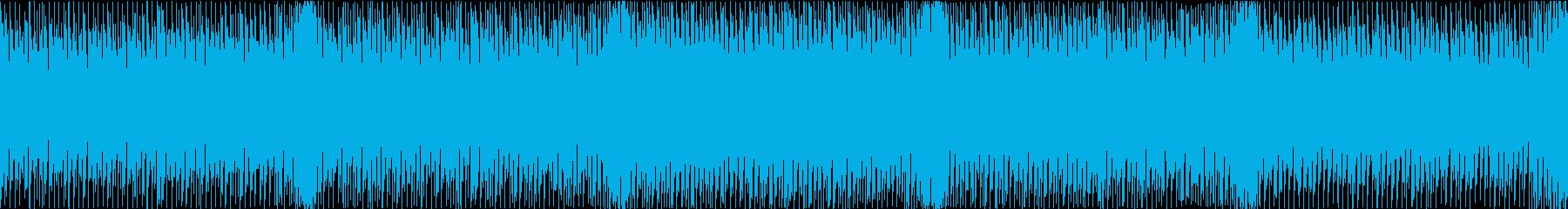 テンポよく作業が進んでいく感じのテクノの再生済みの波形