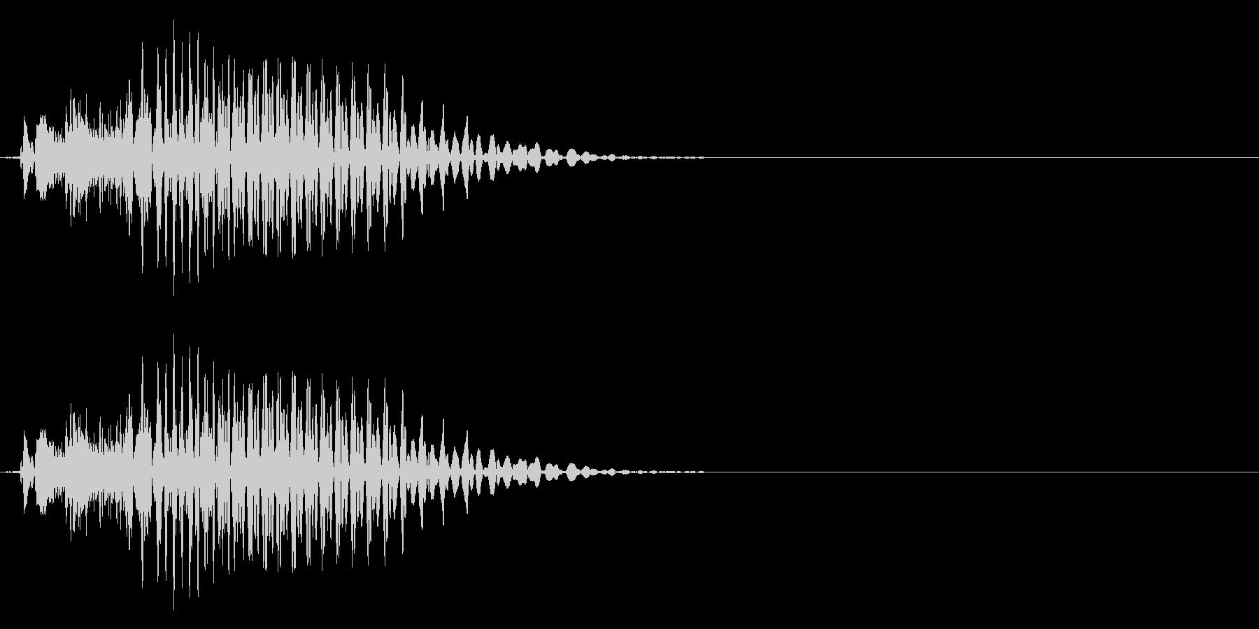 「ポン」 麻雀ゲームのシステムボイスにの未再生の波形