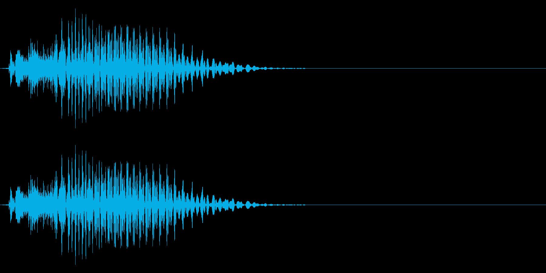 「ポン」 麻雀ゲームのシステムボイスにの再生済みの波形