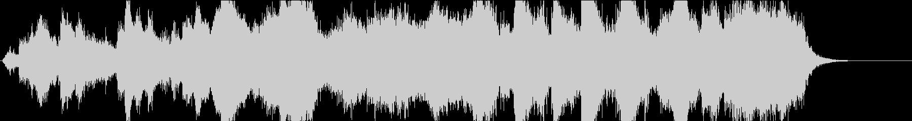 アバンギャルドなBGMの未再生の波形